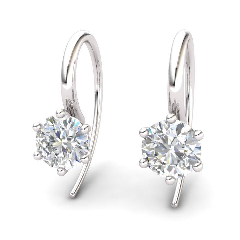 White Topaz Ice Queen Hook Earrings