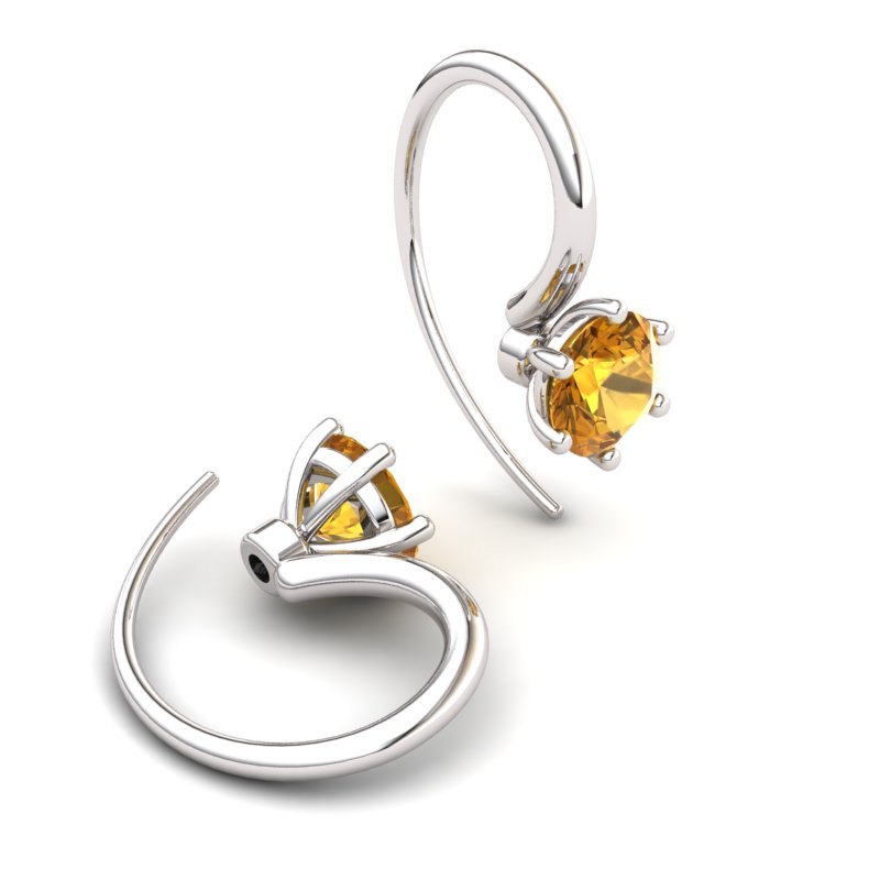 Citrine Ice Queen Hook Earrings_image1