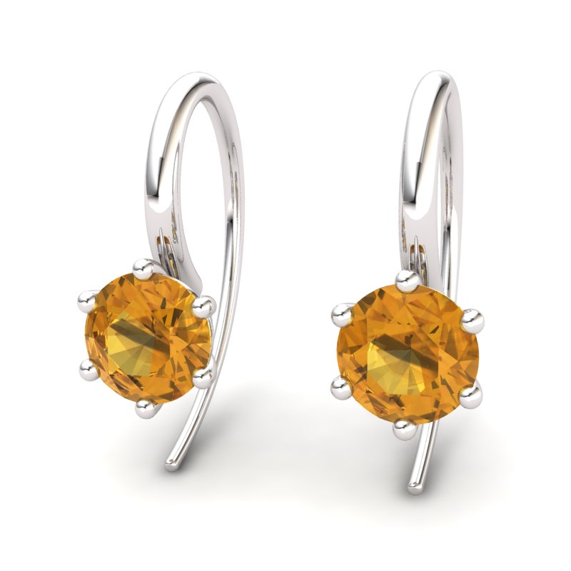 Citrine Ice Queen Hook Earrings_image2