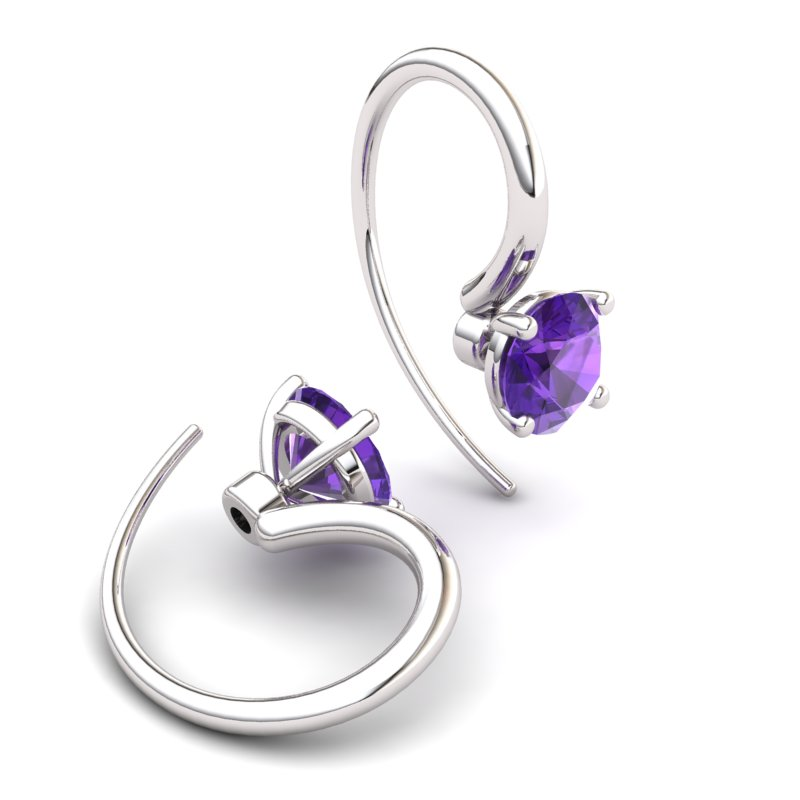 Amethyst Spotlight Hook Earrings_image1