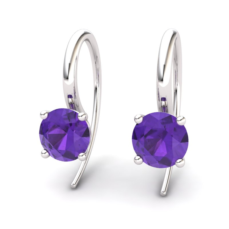 Amethyst Spotlight Hook Earrings_image2