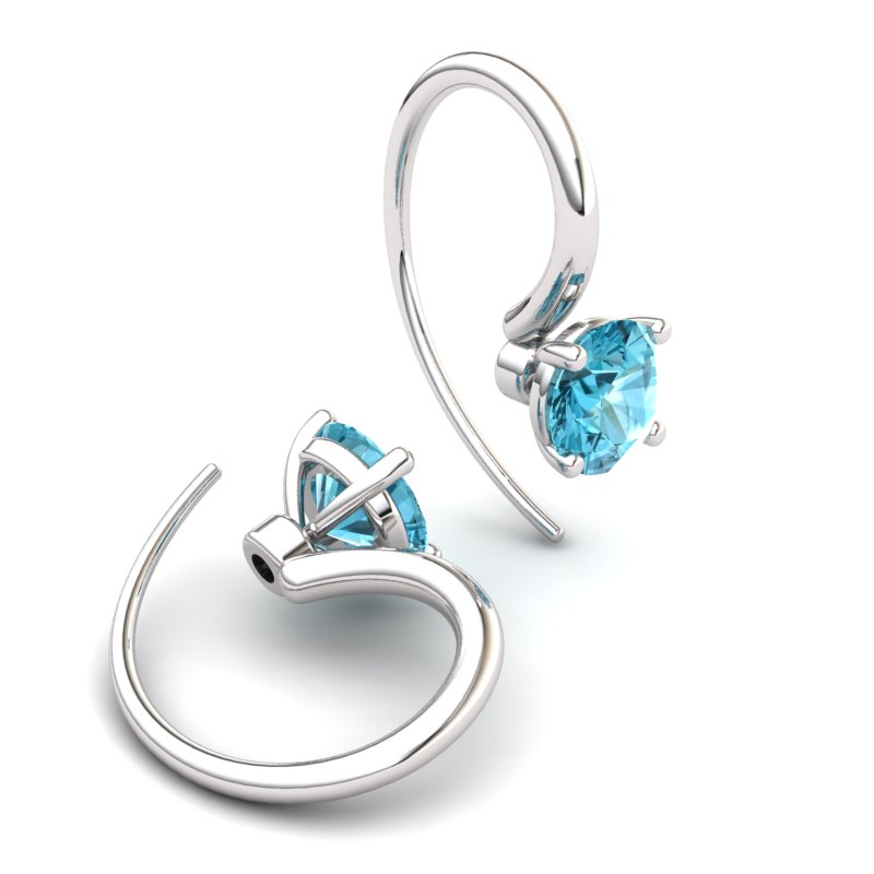 Blue Topaz Spotlight Hook Earrings_image1