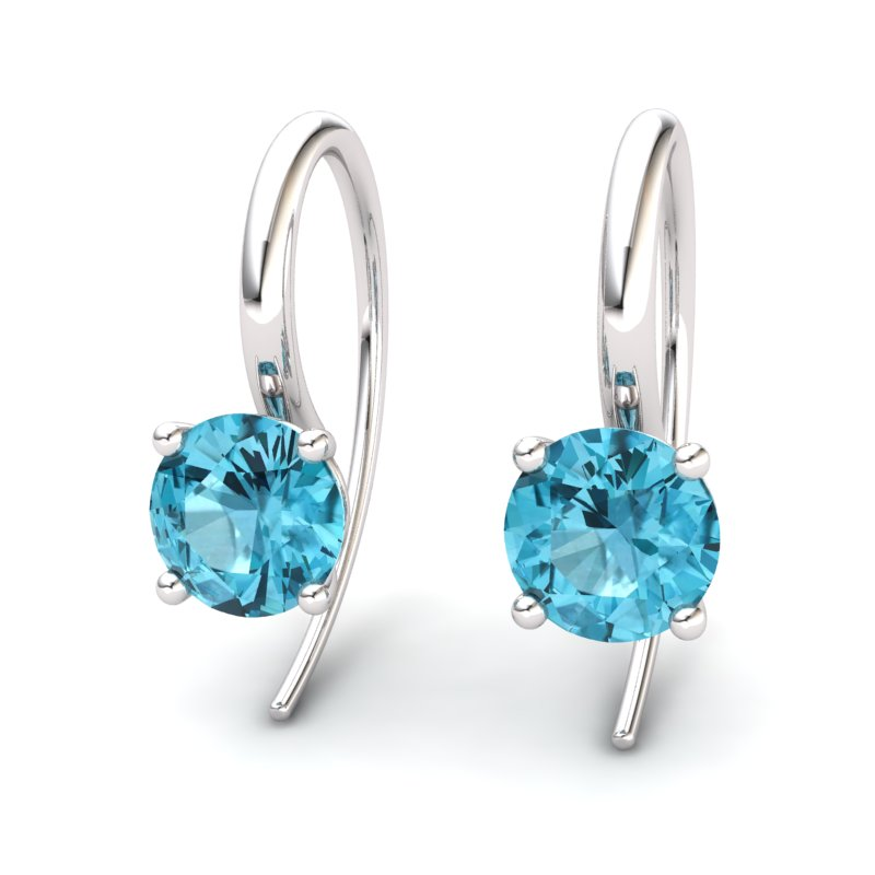 Blue Topaz Spotlight Hook Earrings_image2