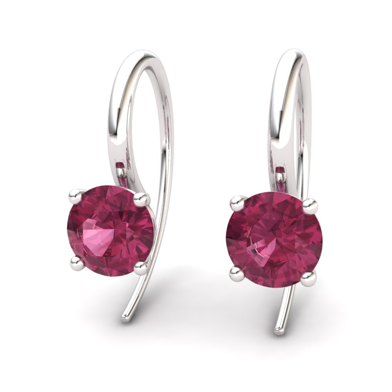 Garnet Spotlight Hook Earrings_image2