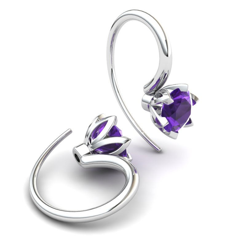 Amethyst Candia Tulip Hook Earrings_image1