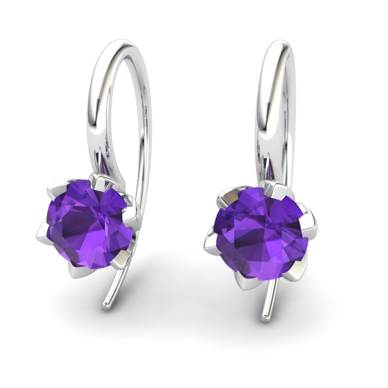 Amethyst Candia Tulip Hook Earrings_image2