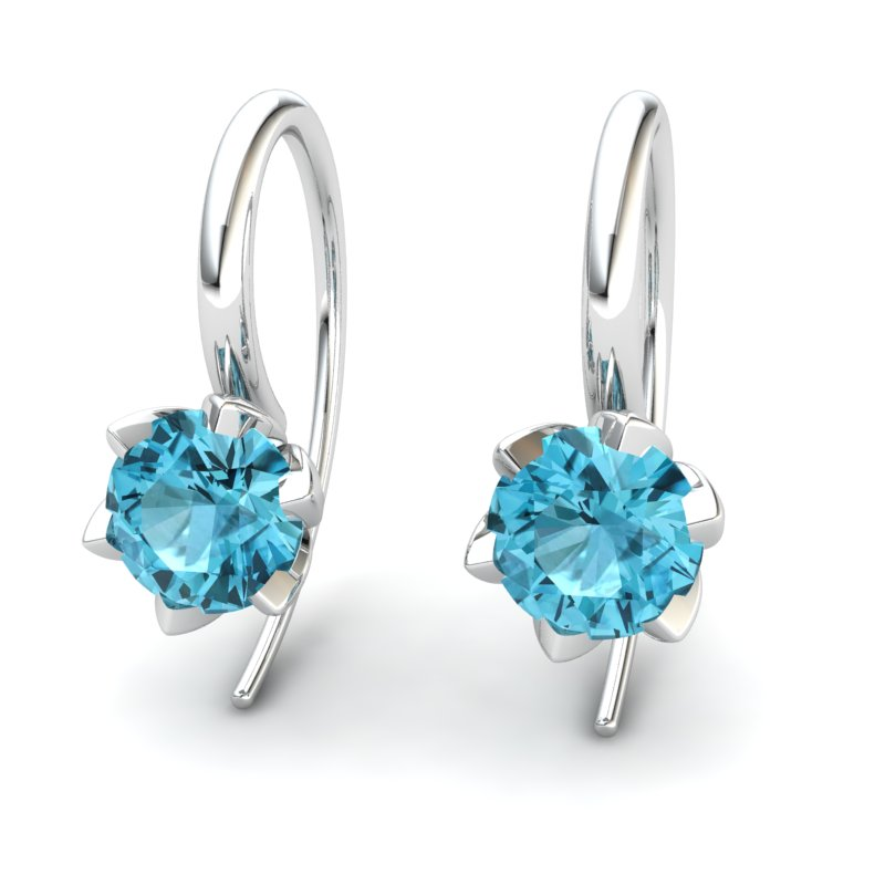 Blue Topaz Candia Tulip Hook Earrings_image2