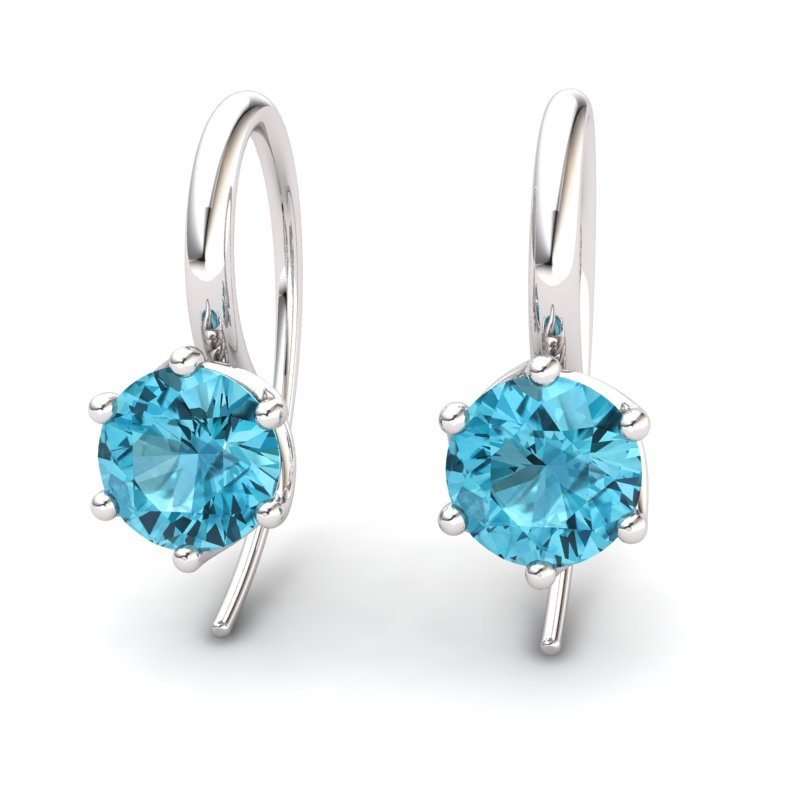 Blue Topaz Eye of Cyclone Hook Earrings_image1