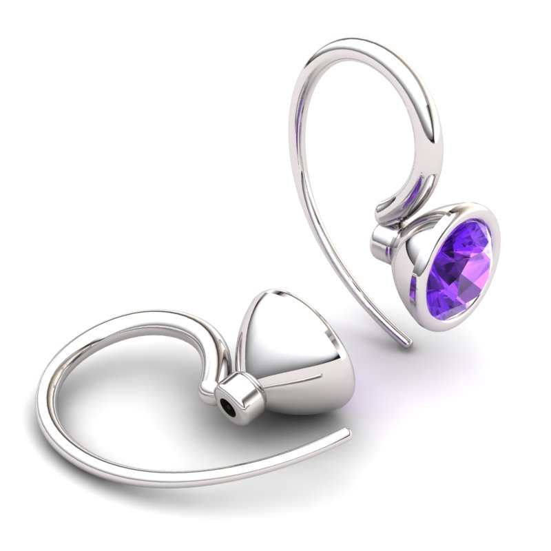Amethyst Imperial Cone Hook Earrings_image1