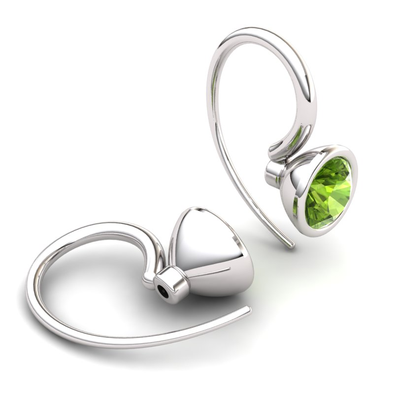 Peridot Imperial Cone Hook Earrings_image1