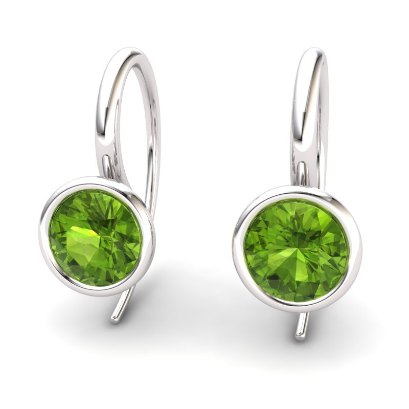 Peridot Imperial Cone Hook Earrings_image2
