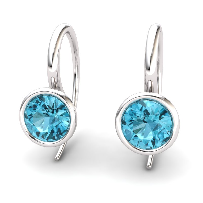 Blue Topaz Imperial Cone Hook Earrings_image2