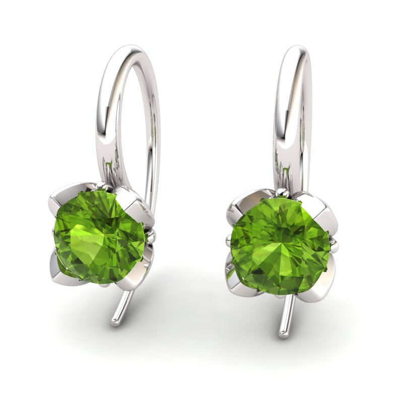 Peridot Lilac Wonder Tulip Hook Earrings_image1