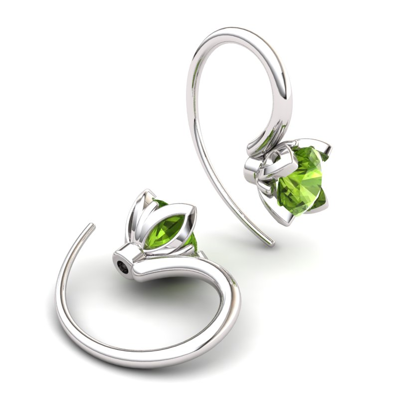 Peridot Lilac Wonder Tulip Hook Earrings_image2