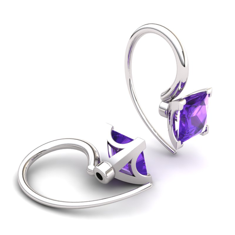 Amethyst Magic of Love Hook Earrings_image2
