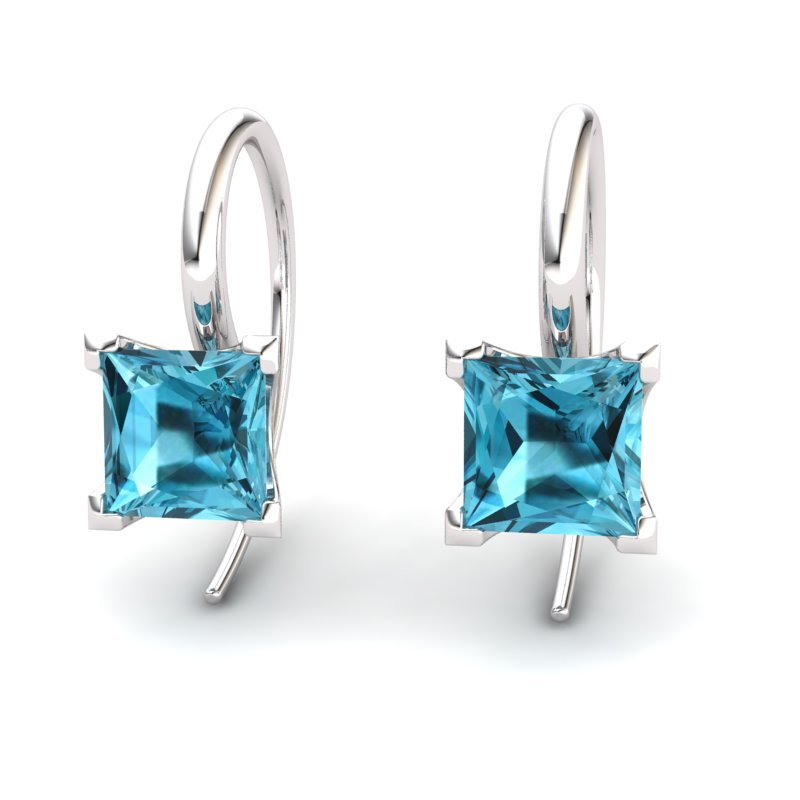 Blue Topaz Magic of Love Hook Earrings_image1