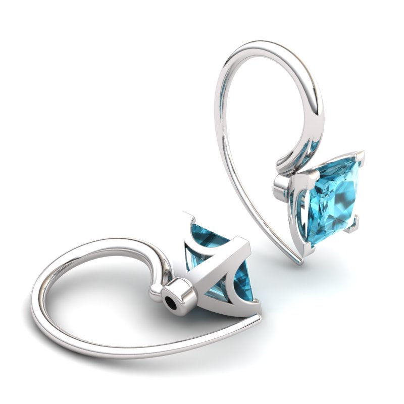 Blue Topaz Magic of Love Hook Earrings_image2