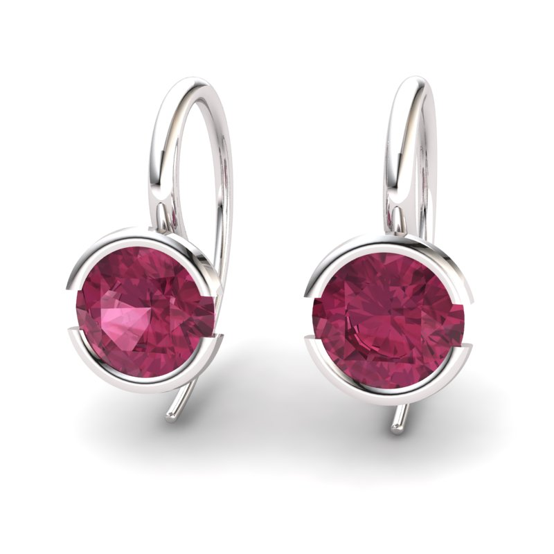 Garnet The Eye of Venus Hook Earrings_image1