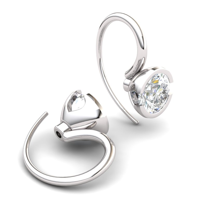 White Topaz The Eye of Venus Hook Earrings_image1