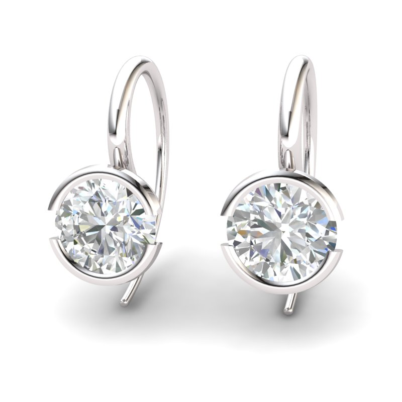 White Topaz The Eye of Venus Hook Earrings_image2