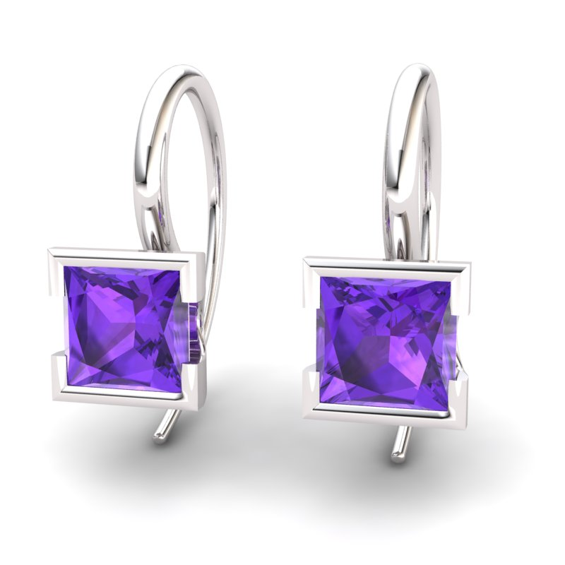 Amethyst Watchtower Hook Earrings_image1