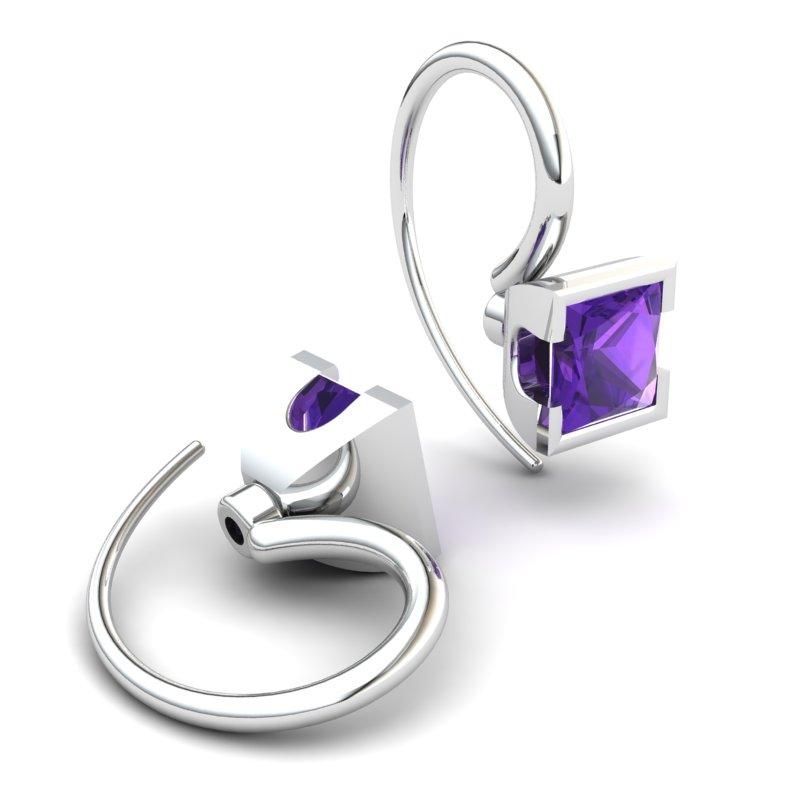 Amethyst Watchtower Hook Earrings_image2
