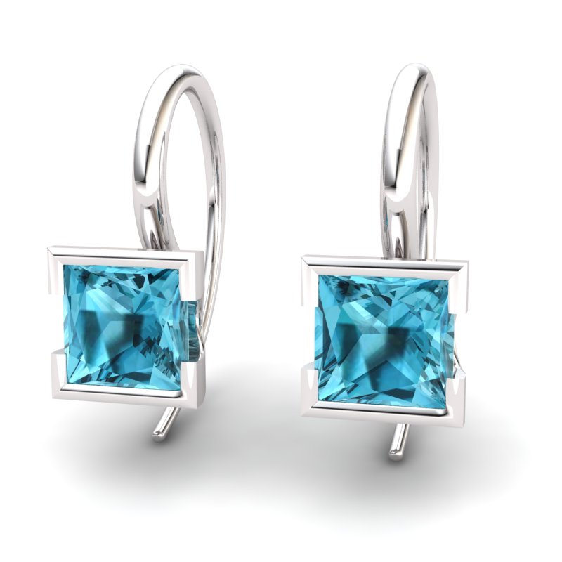 Blue Topaz Watchtower Hook Earrings_image2