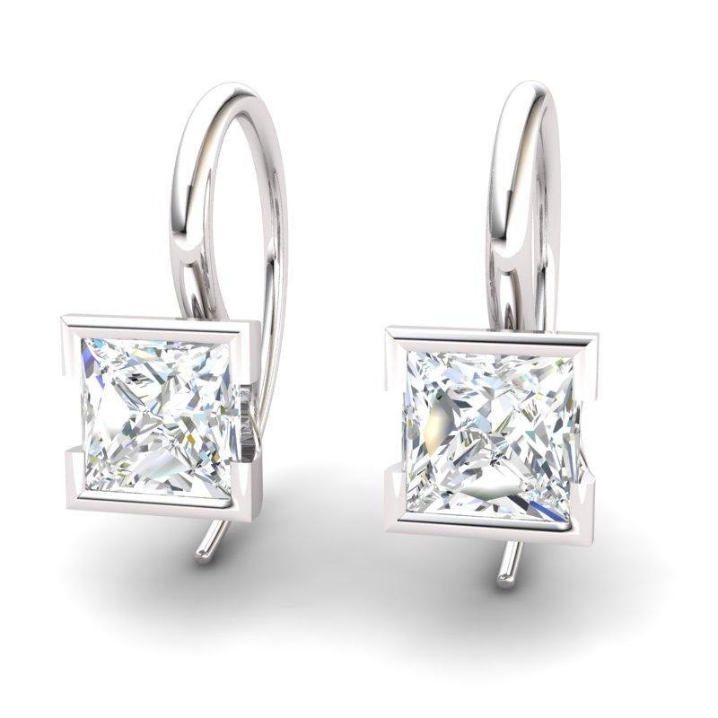 White Topaz Watchtower Hook Earrings_image2