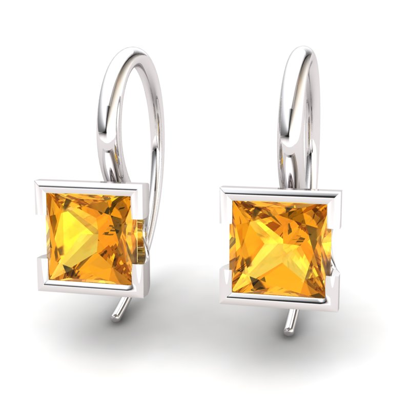 Citrine Watchtower Hook Earrings_image1