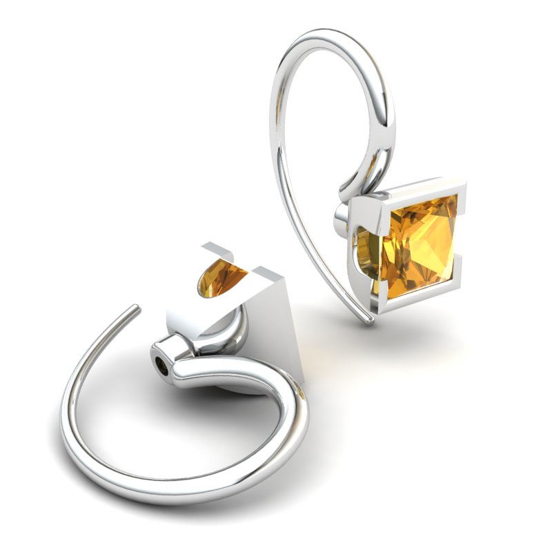 Citrine Watchtower Hook Earrings_image2