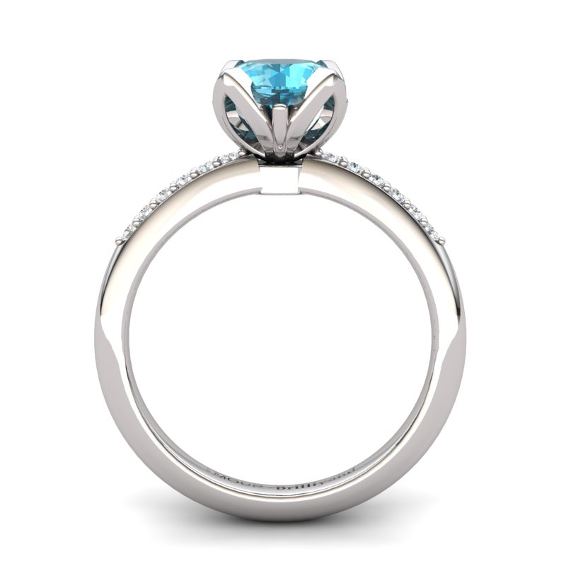 Blue Topaz Elite Lilac Wonder Tulip Solitaire Ring_image1