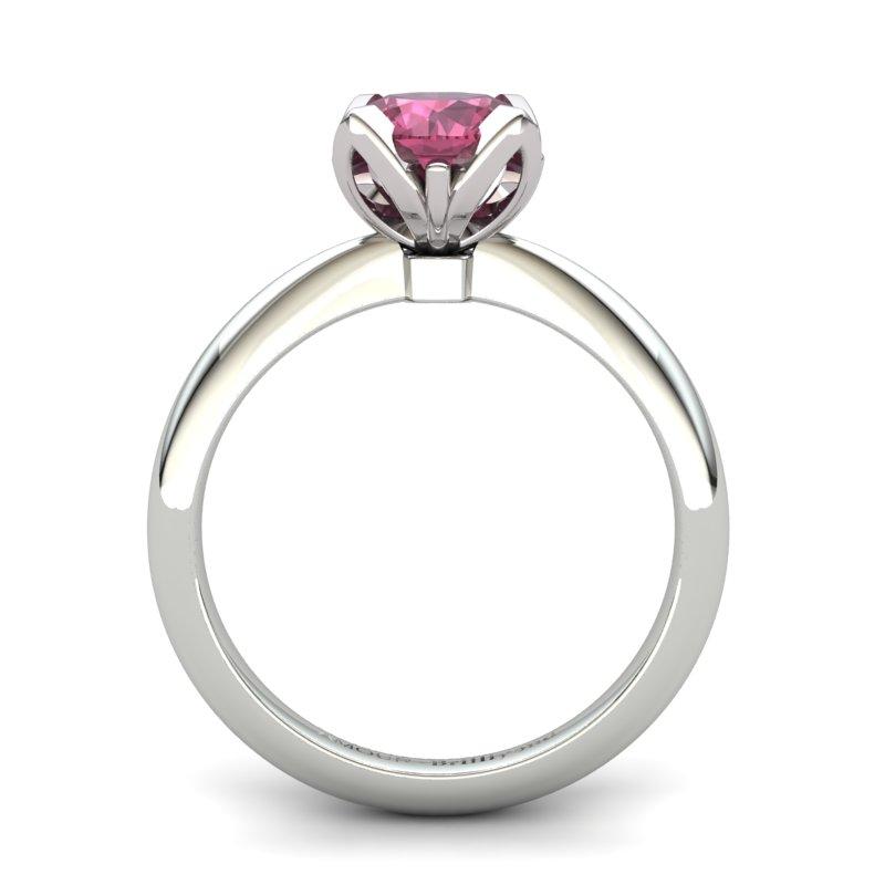 Garnet Artisanal Lilac Wonder Tulip Solitaire Ring_image1