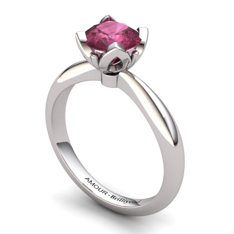 Garnet Artisanal Lilac Wonder Tulip Solitaire Ring_image2