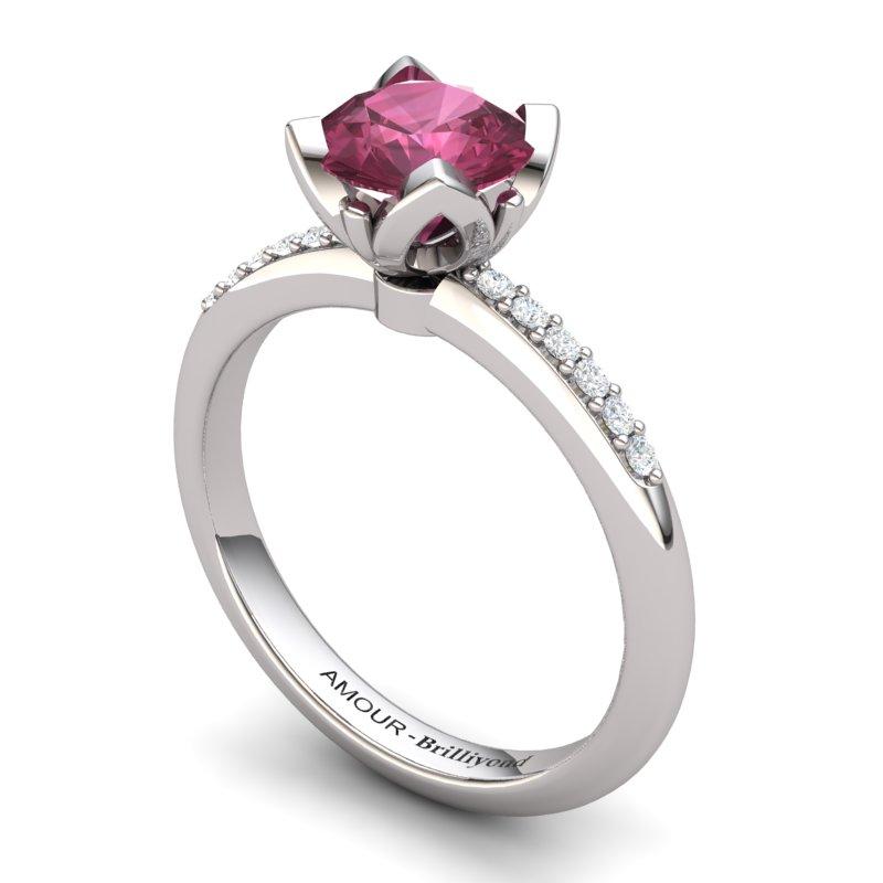 Garnet Elite Lilac Wonder Tulip Solitaire Ring_image1