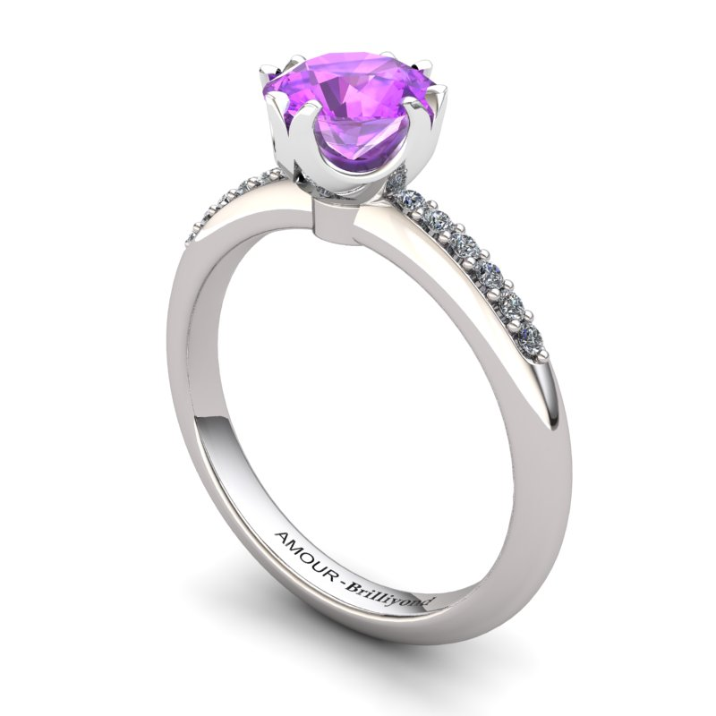 Amethyst Elite Queen of Night Solitaire Ring_image1