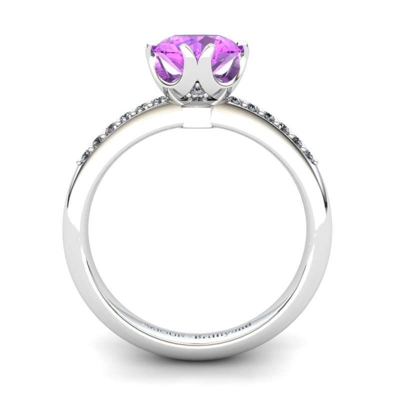 Amethyst Elite Queen of Night Solitaire Ring_image2