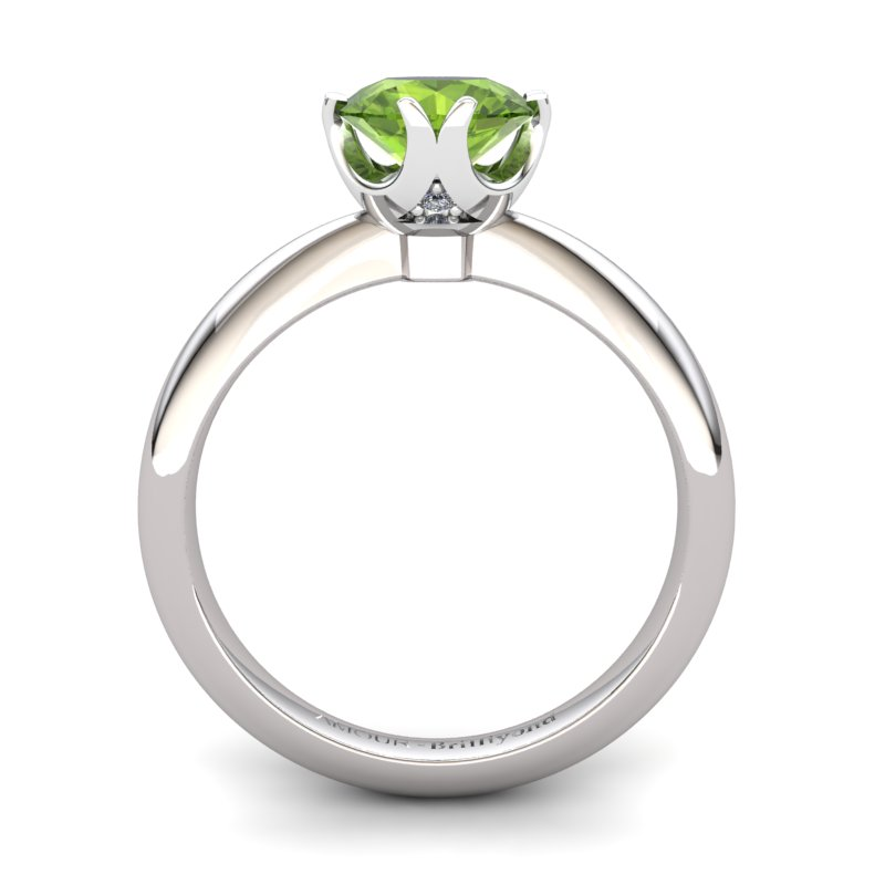 Peridot Artisanal Queen of Night Solitaire Ring_image2