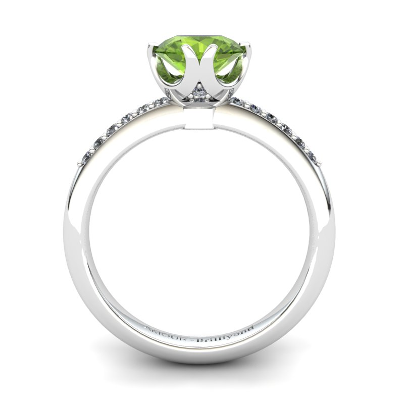Peridot Elite Queen of Night Solitaire Ring_image1