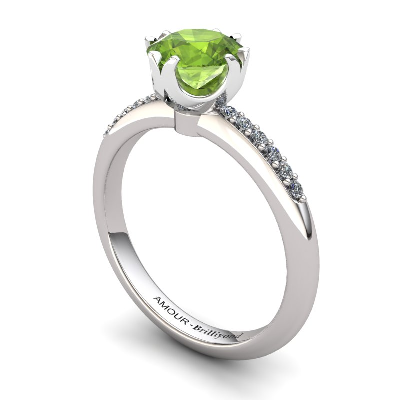 Peridot Elite Queen of Night Solitaire Ring