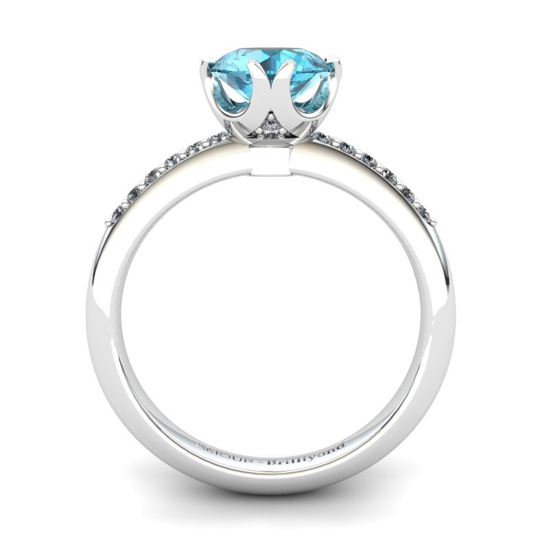 Blue Topaz Elite Queen of Night Solitaire Ring_image2
