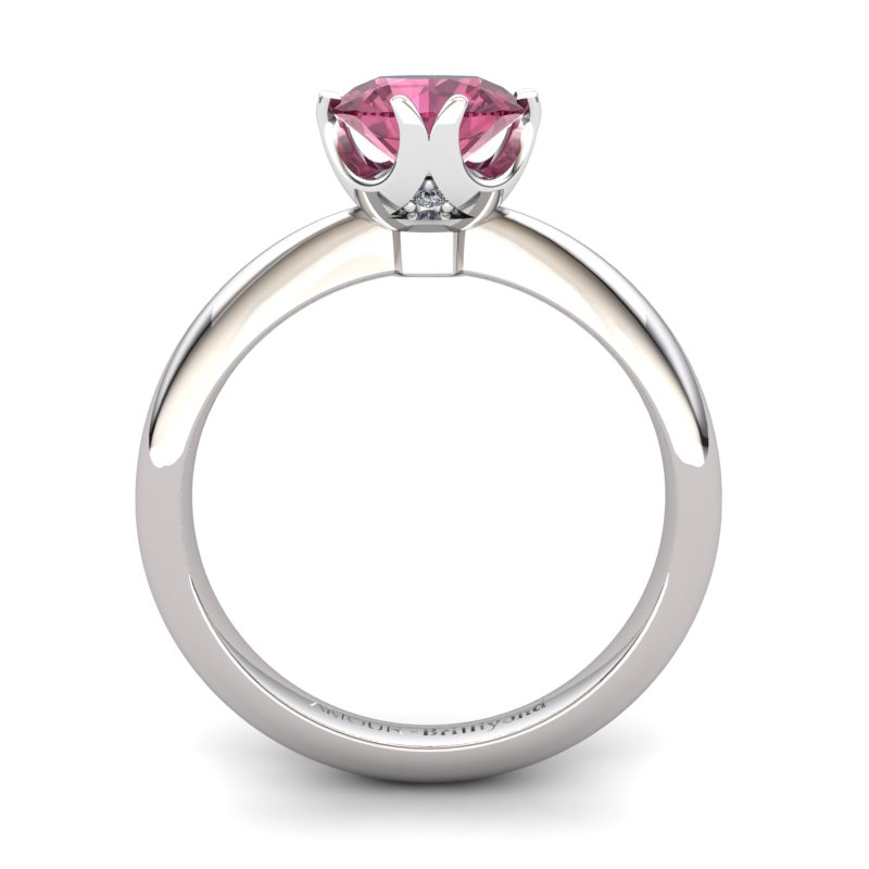 Garnet Artisanal Queen of Night Solitaire Ring_image1