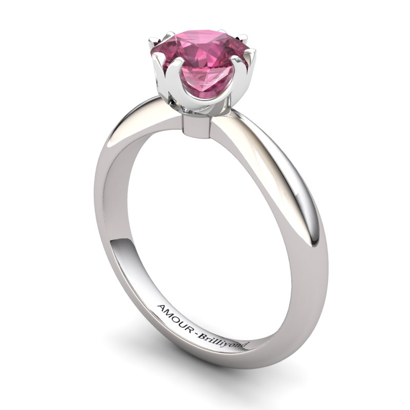 Garnet Artisanal Queen of Night Solitaire Ring_image2