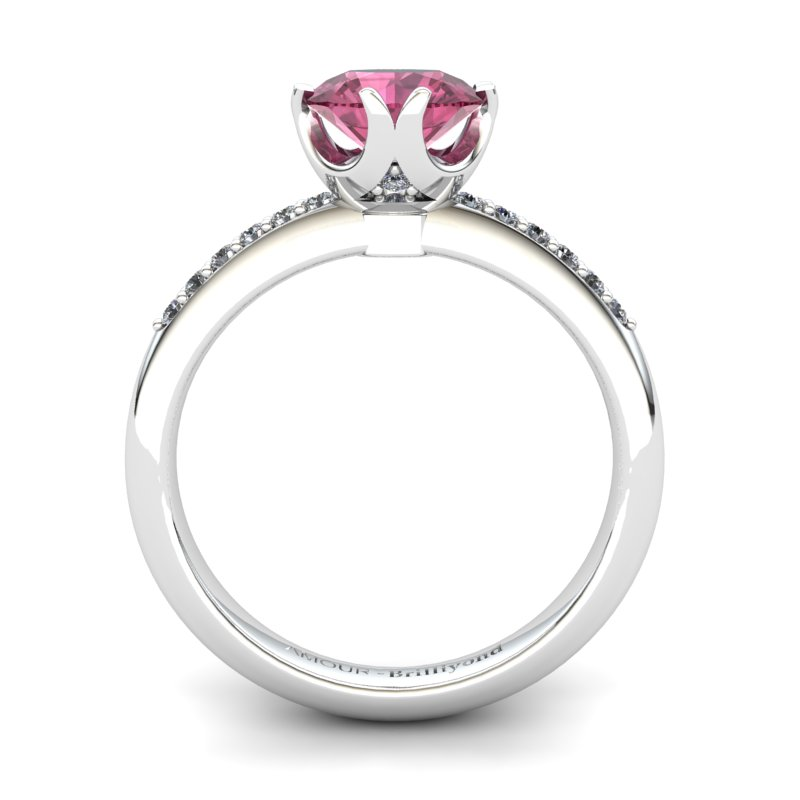 Garnet Elite Queen of Night Solitaire Ring_image2