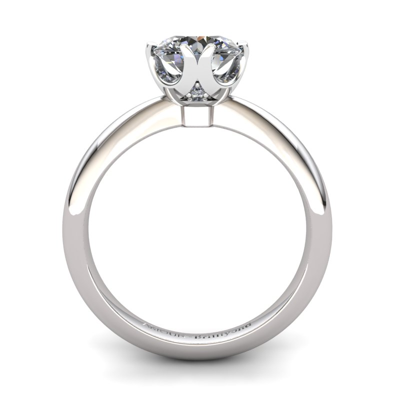 White Topaz Artisanal Queen of Night Solitaire Ring_image1