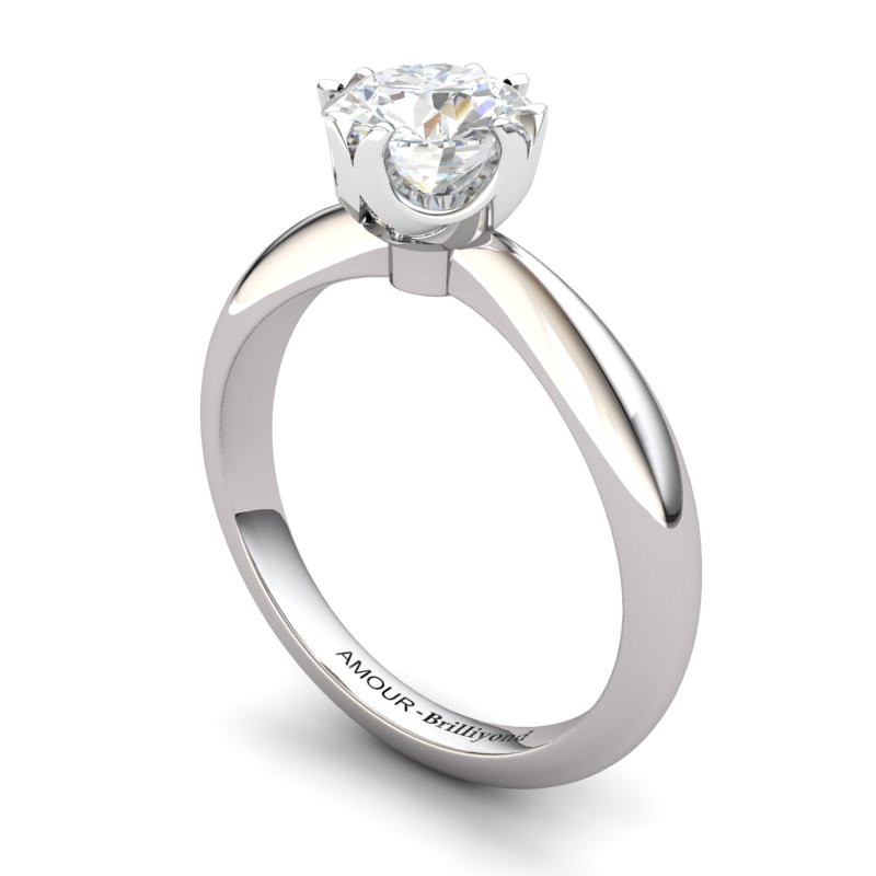 White Topaz Artisanal Queen of Night Solitaire Ring_image2