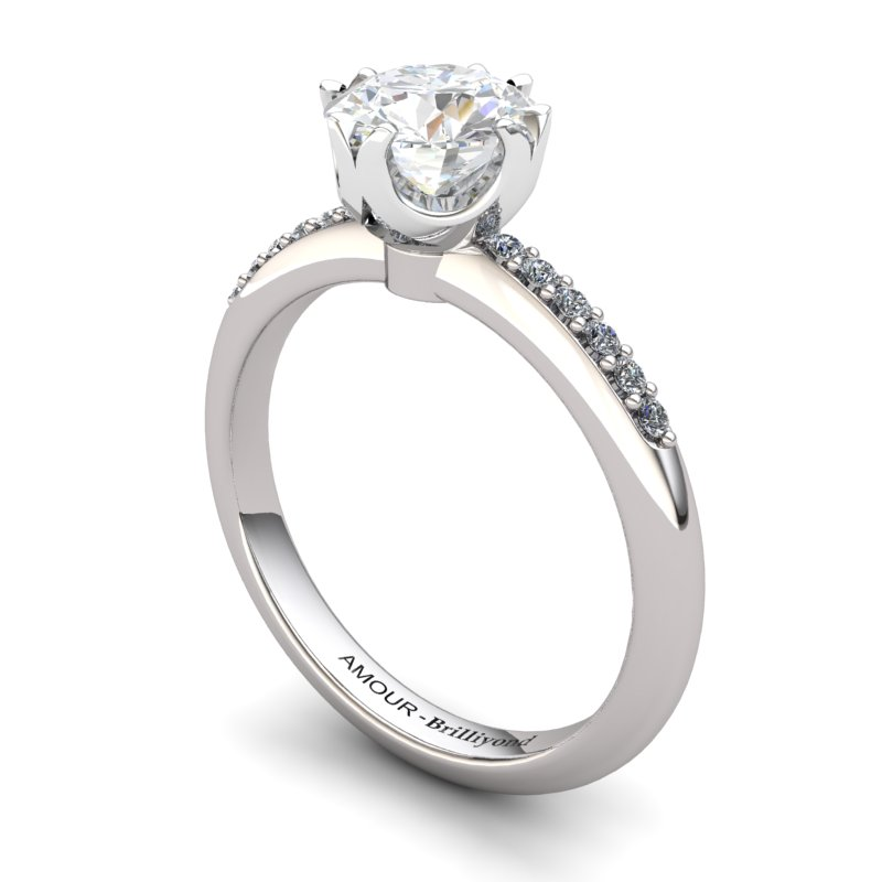 White Topaz Elite Queen of Night Solitaire Ring_image1