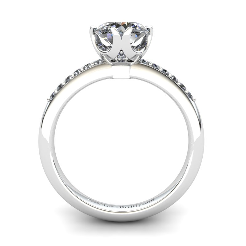 White Topaz Elite Queen of Night Solitaire Ring_image2