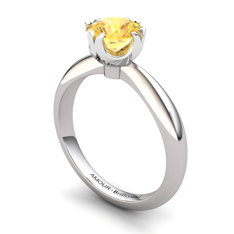 Citrine Artisanal Queen of Night Solitaire Ring_image1