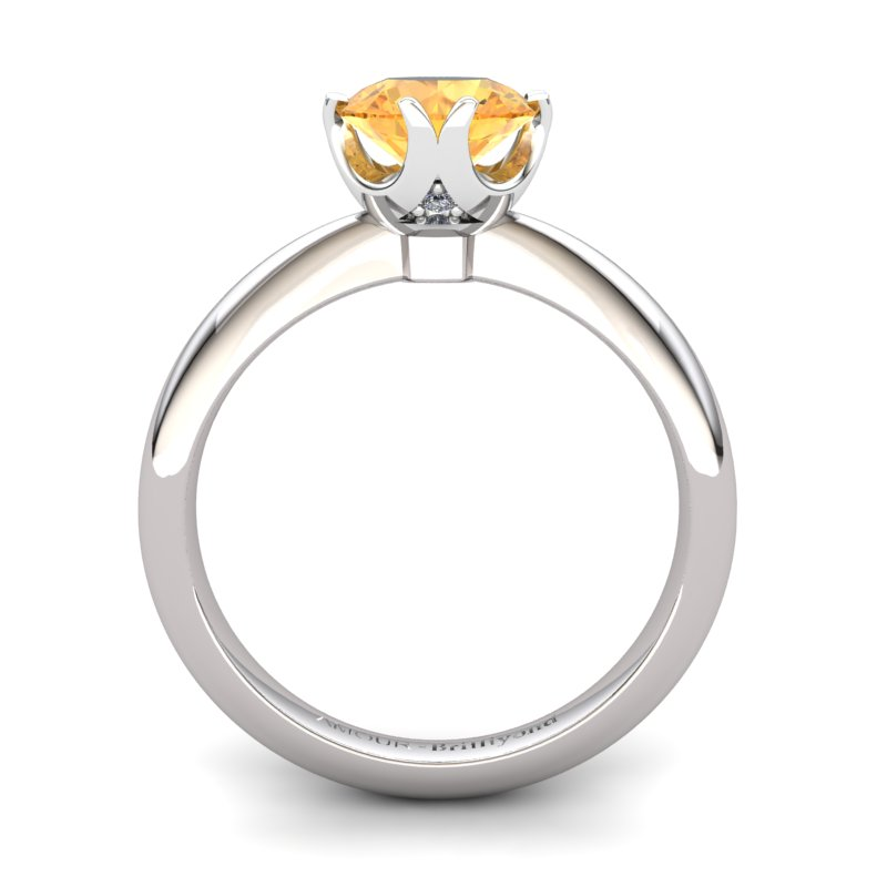 Citrine Artisanal Queen of Night Solitaire Ring_image2