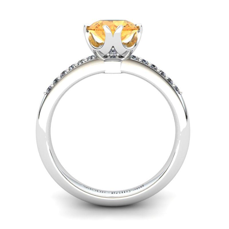 Citrine Elite Queen of Night Solitaire Ring_image1